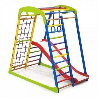 Детский спортивный комплекс для дома «SportWood Plus 1»