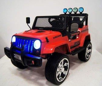 Электромобиль Jeep T008TT на резиновых колесах.