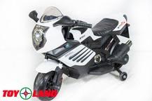 Детский мотоцикл Toyland Moto Sport LQ168 с кожаным сиденьем
