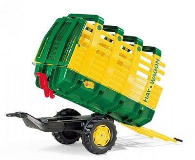 Rolly Toys rollyHay Wagon 122981. Прицеп-самосвал для педального трактора.