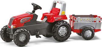 Rolly Toys Junior RT Farm Trailer 73202. Педальный трактор с прицепом.