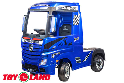 Mercedes-Benz Truck. Электромобиль-грузовик на резиновых колесах.