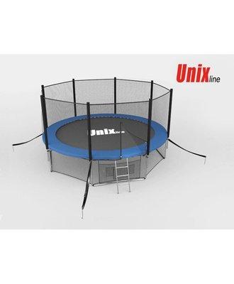Батут Unix 10 ft с сеткой и лестницей