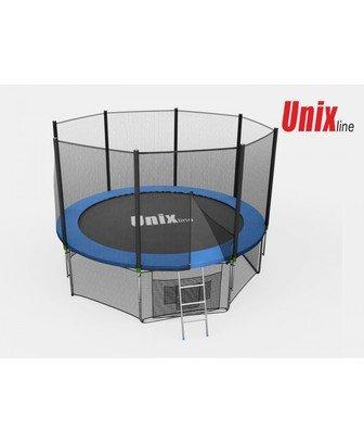 Батут Unix 6 ft с сеткой и лестницей
