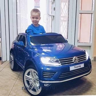 Детский электромобиль Volkswagen Touareg на резиновых колесах