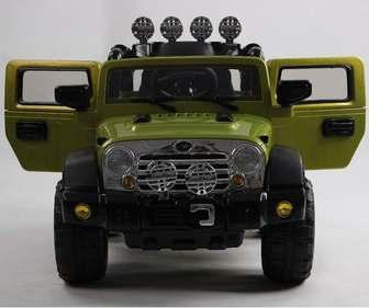 Электромобиль JEEP WRANGLER на резиновых, надувных колесах, 12V.