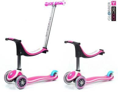 Детский самокат Y-SCOO RT GLOBBER My free Seat 4 in 1 с блокировкой колес