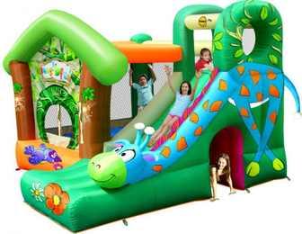 Детский надувной Игровой центр Жираф HAPPY HOP 9139.