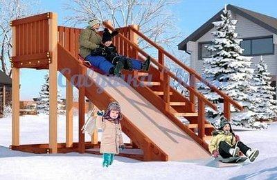 """Савушка """"Зима"""" - 3. Детская игровая зимняя горка."""